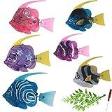 ZHURGN Juguete de pescado plástico, juguetes de peces de robot interactivos, con luz LED, activada en agua, juguete eléctrico con batería, para decoraciones de acuario, accesorio de fiesta, adorno par