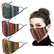 Materials: Made of 100% cotton. Design: Unisex fashion design.Double layer fabric design, stylish and beautiful, while protecting your mouth and nose.The earrings are designed to fit the skin, making them easy to wear without putting pressure on the ...