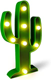 VALFRID Tropical LED Green Cactus Night Light for Christmas Party Wedding Decor Kids' Room, Bedroom, Gift, Party, Fiesta,Garden,Home Decorations