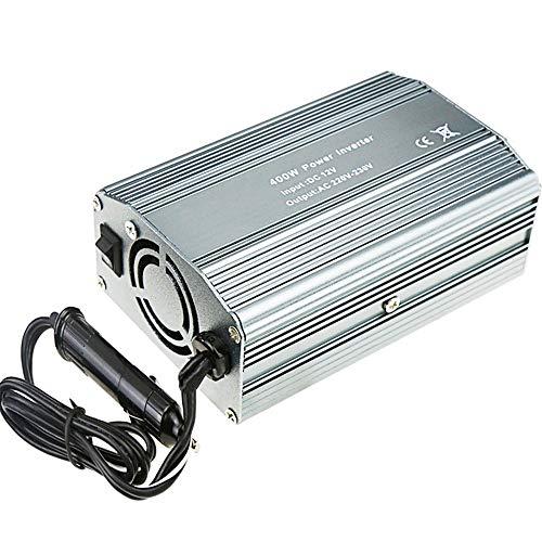 LIUXING-Home Inversor De Energia con LED Pantalla Car CONVERTOR MÓVIL Tablet Tablet Game Console Inverter de Power Inverter con Enchufe Británico (Color : Silver, Size : One Size)