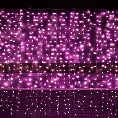 Allamp LED Carámbano Cortina Hada String Light Strip Strip Waterproo Christmas Guirnalda Luz Al Aire Libre para Barra de Boda Romántica Bar Bar Decorat