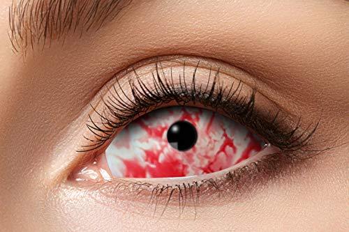 Eyecatcher 84091541.s18 - Farbige Sclera Kontaktlinsen, Rotes Lava, Farblinsen, 6 Monate, weiche Linsen, ohne Sehstärke, 2 Stück, Motivlinsen, Halloween, Karneval, Fasching