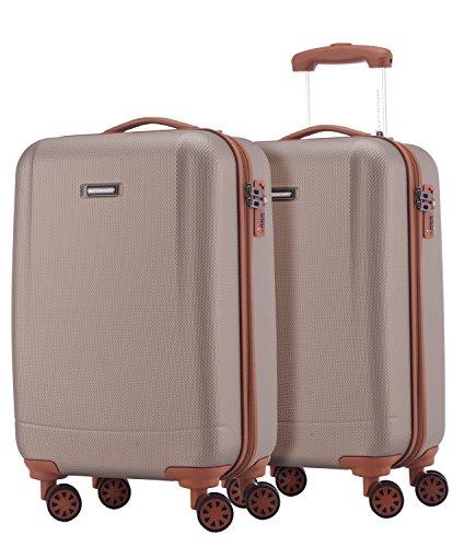 HAUPTSTADTKOFFER - Wannsee - 2 x Handgepäck Koffer-Set Trolley-Set Rollkoffer sehr...