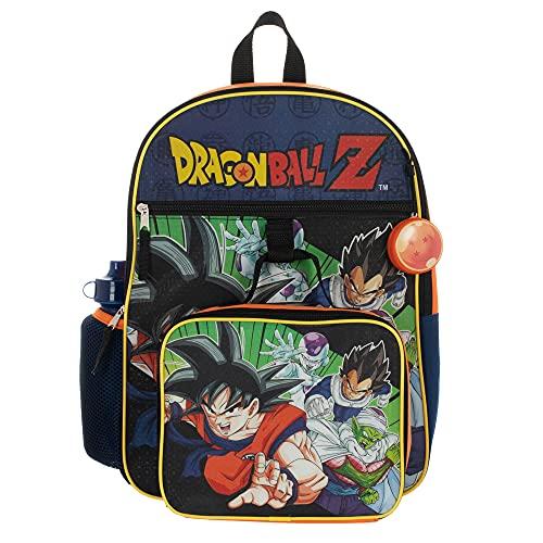 Kids Dragon Ball Z Backpack Set 5-Piece School Supplies Combo
