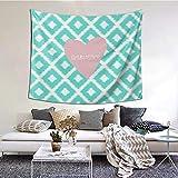 I Love Gymnastics Tapiz para colgar en la pared como decoración del hogar para dormitorio, sala de estar, dormitorio (60 x 51 pulgadas)