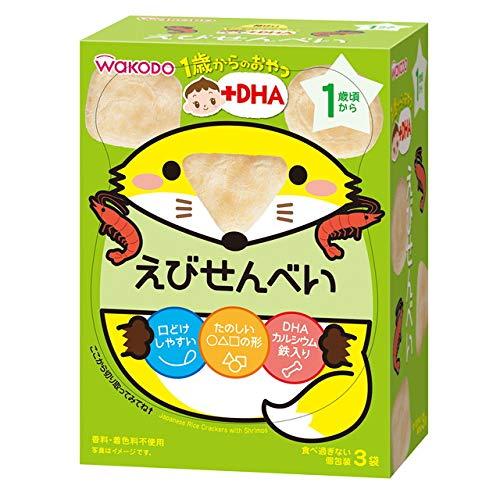 和光堂 1歳からのおやつ えびせんべい 6g×3袋【3個セット】