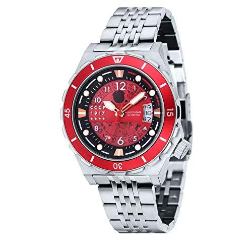CCCP CP-7022-44 Aurora - Reloj analógico para Hombre, Color Plateado