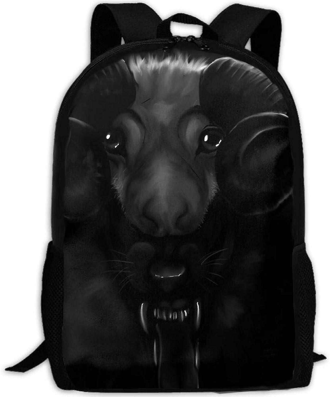 Adult Backpack Wolf Sheep College Daypack Oxford Bag Unisex Business Travel Sports Bag Adjustable Strap