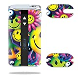 MightySkins Skin Compatible with Eleaf iStick 50W – Peace Smile | Protective, Durable, and Unique Vinyl Decal wrap Cover | Easy to Apply, Remove, and Change Styles | Made in The USA