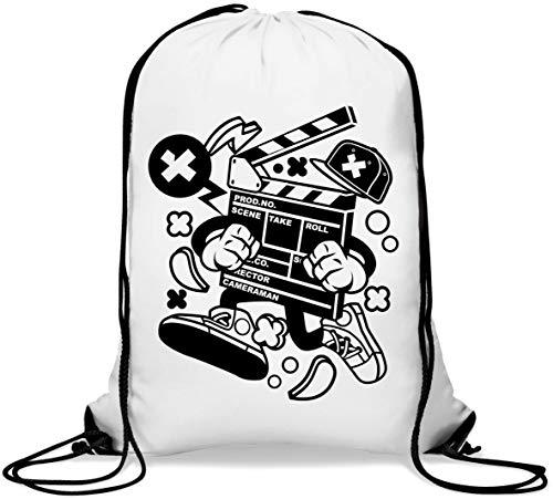 Clapperboard Lights Camera Action Movie Director Mochila con cordón Informal Gym Sack