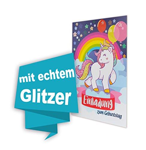 Einhorn 8 STK Geburtstag einladungskarten