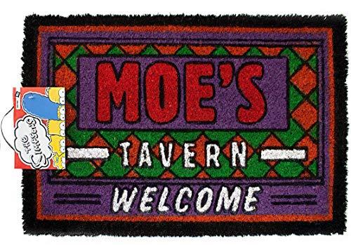 The Simpsons Moes Tavern oficial novedad bienvenida felpudo