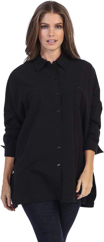 Fashion Focus Oversize Tunic Fit ButtonDown Shirt