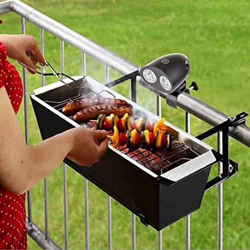 Kohree Bright Barbecue Grill Light Handle Mount BBQ Light for Grilling,10 LED Lights, Easy to Install, Fits Most Grill Handles,Touch Switch, Adjustable, Screwdriver Included