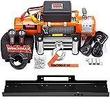 Winchmax 13500 lb / 6123 kg Verricello 12v arancione originale. Fune metallica da 26 m x 9,5 mm. Gancio a cerniera da 3/8 di pollice. Piastra di montaggio pianale.
