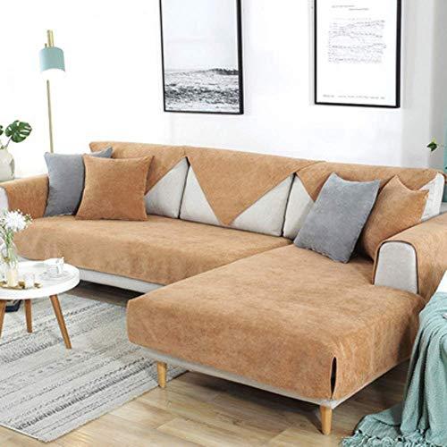 Jonist Funda Impermeable para sofá, seccional, Antideslizante, Duradera, para sofá, Todo Incluido, Antiadherente, para sofá en Forma de L, Color café, 70 x 180 cm (28 x 71 Pulgadas)