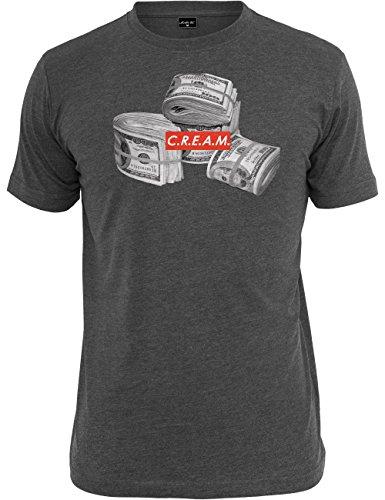 Mister Tee Herren T Shirt Kurzarm C.R.E.A.M Bundle, Charcoal, XL, MT185-00091-0054