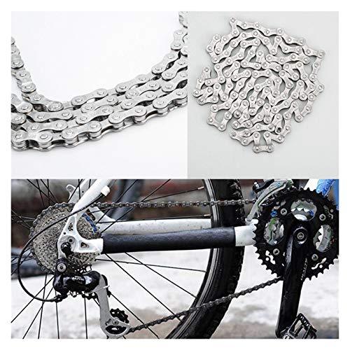 Cadena de bicicleta Cadena de bicicletas 6-7-8 Velocidad 116 Enlaces para MTB Bicicleta de montaña Cadena de acero Cadena de montaña Bicicleta de acero Cadena de acero Bicicleta de montar al aire libr