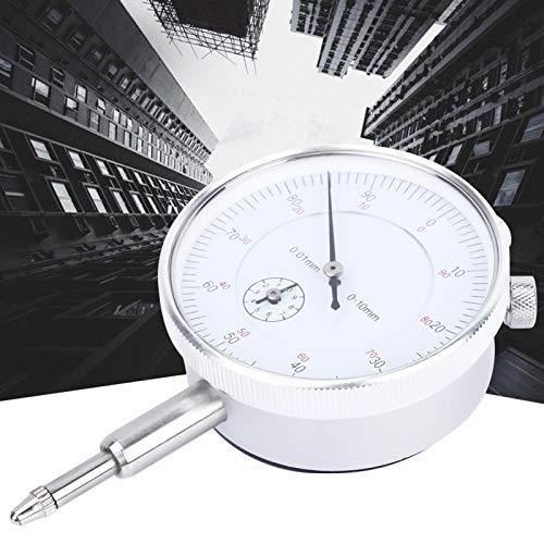 Indicador de esfera de acero inoxidable, indicador de prueba de esfera mecánica de 0-10 mm, herramienta de medición de calibre de escala de esfera de 0,01 mm
