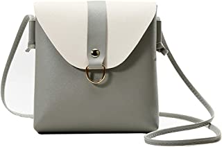 Bageek Womens Satchel Bag Fashion Flap Cover Crossbody Bag Mini Shoulder Bag (Grey)