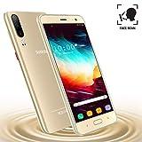 Moviles Libres Baratos 4G,Teléfono Móvil Barato de 5.5'' Pulgadas 16GB ROM Android 9.0 Quad-Core Smartphone Libres Baratos 4800mAh Batería Moviles Baratos y Buenos Dual SIM Cámara 8MP(Oro)