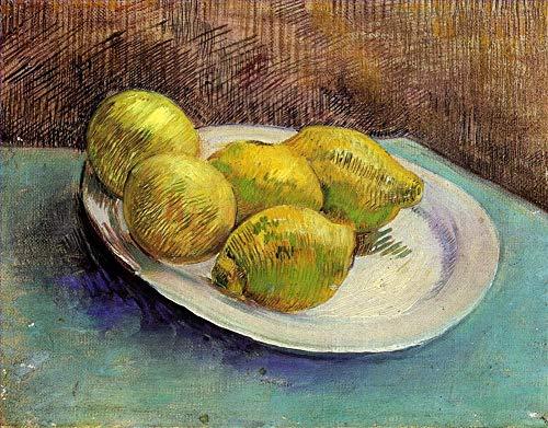 Singing Palette 18 berühmte Gemälde auf Leinwand von akademischen Malern - 40€-1500€ Handgefertigte Ölgemälde - Stillleben with Lemons on a Plate Vincent Van Gogh - Kunst Bilder -Maße07