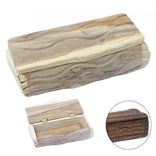 Oriental Galerie Holzdose Holzbox Holzkiste Holzschatulle Schmuckkasten Stiftebox Teak Holz Box Kiste 28 cm Natur Nr. 2