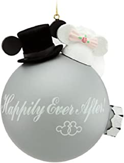 Best mickey minnie just married ornaments Reviews