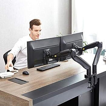 North Bayou Full Motion Dual Arm Monitor Desk Mount