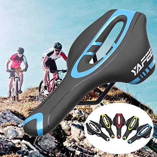 Fietszadel fietszadel MTB Ergonomisch City zadel heren dames fiets zadel mountainbike kussen holle fietskussen, maat: 290 x 145 mm donkerblauw