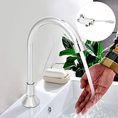 Accesorio para grifo de baño Kit de grifo de agua para fregadero de grifo operado con el pie Mano de obra estándar para hotel