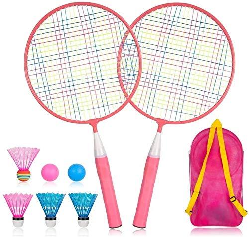 RENFEIYUAN Badmintonschläger eingestellt Badminton Sets (Color : Pink)
