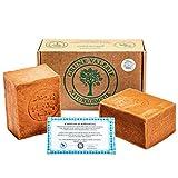 Grüne Valerie® Set de jabón original de Alepo 2 x 200g (400g) con 40%/60% de aceite de ...
