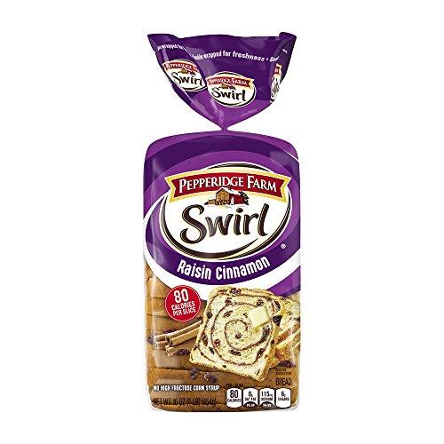 Pepperidge Farm Swirl Raisin Cinnamon Bread 16 oz (Pack of 2)