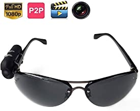 Video Sunglasse HD 1080P Sunglasses Camera Digital Audio Video Mini DVR Sunglasses Smart Glasses with Camera Mini DV for Car Driving Sports (Plus 16G TF Card)