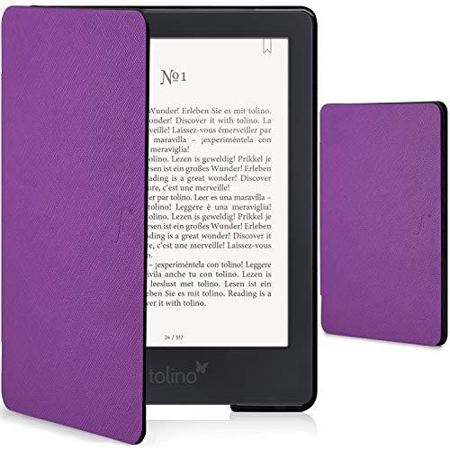 Forefront Cases Smart Hülle für Tolino Shine 3 | Magnetische Schutzülle Case Cover für Tolino Shine 3 eBook-Reader | Smart Auto Schlaf Wach Funktion | Elegant Dünn Leicht | Violett