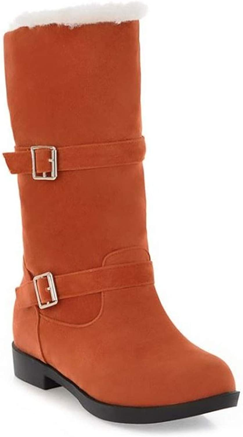 Believed Women's Knee High Winter Boots with Fur Lined Collar and Interior Warm shoes