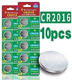 Beidongli CR2016H high Capacity 3V Lithium Battery (10-Pack)