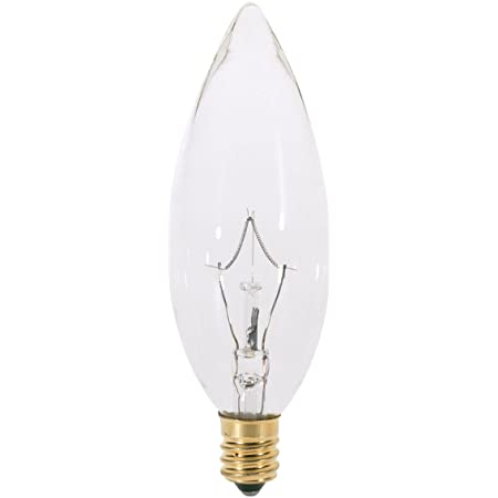 Satco 2.5 Watt LED light bulbs 25 watt s9921 Candelabra Base Clear 6