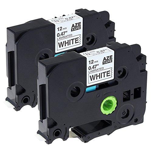 Airmall kompatible Etikettenband als Ersatz für Brother TZe-231 TZ231 Schriftband Kompatibel mit P-touch PT-1000 PT-1010 PT-1080 PT-h101c PT-H110, Schwarz auf Weiß 12mm x 8mm, 2 Rollen