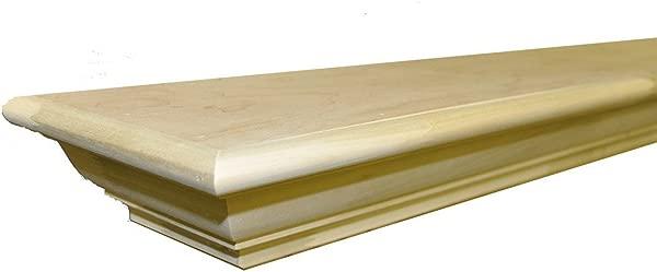 Sams Creek Forest Products Frederick Mantel Shelf Paint Grade Unfinished Poplar 60 W X 7 3 4 D X 3 3 4 H