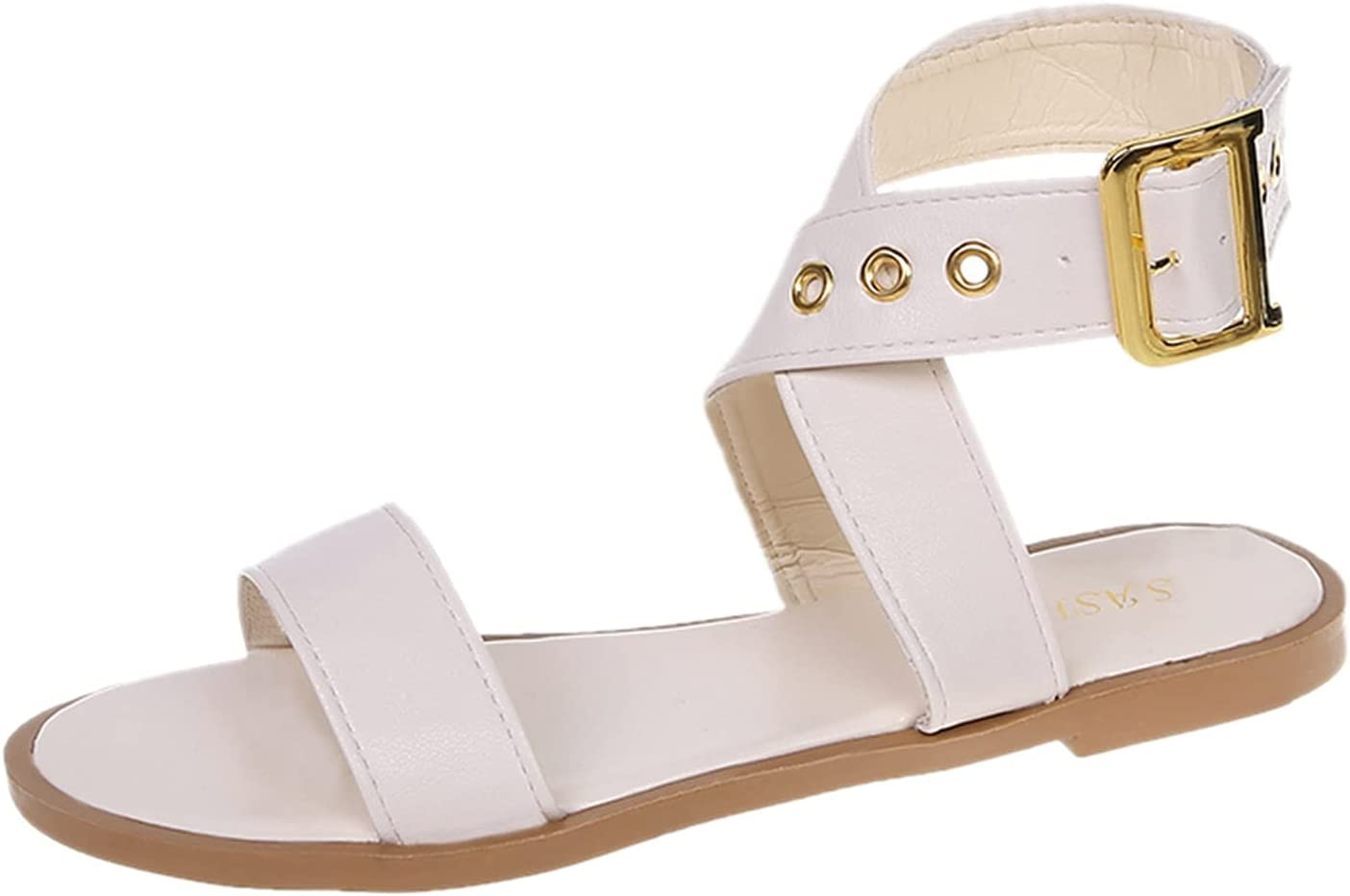 PLENTOP Lace-Up Flats Sandals for Beach Outdoor Women 100% quality warranty Memphis Mall Sho Casual
