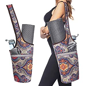Ewedoos Yoga Mat Bag with Large Size Pocket and Zipper Pocket, Fit Most Size Mats from Ewedoos