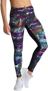 ARENA Women's Damen Sport Hose Tights Gym, Iridescent Stripe-Black, M