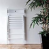 JYHQ Silla plegable, de madera, para restaurante, oficina, estudiante, color blanco