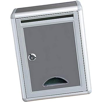 Sharplace Buzón Americano Caja de Correos Exterior Caja de Seguridad Bloqueo Hierro para Villa Puerta: Amazon.es: Hogar