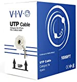 VIVO Gray 1,000ft Bulk Cat5e, CCA Ethernet Cable, 24 AWG, UTP Pull Box, Cat-5e Wire, Indoor, Network Installations CABLE-V001