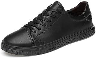 DADIJIER Zapatillas de Deporte cómodas para Hombres, de Cuero de PU, Zapatos de tacón Plano livianos, Malla Transpirable V...