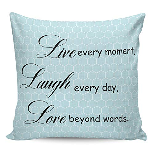 Litter Star Pillowcase Throw Pillow Covers Inspirational Quotes Decorative Square Cushion Cover Pillow Cases for Sofa Couch Bedroom Living Room Blue Honeycomb Back 24x24in