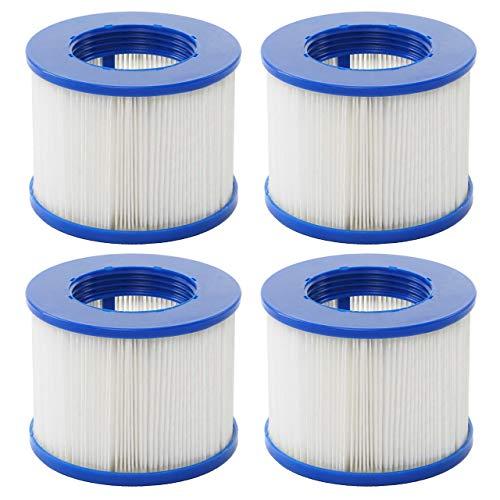 Mendler Wasserfilter für Whirlpool HWC-E32, Ersatzfilter Filterkartusche Filterpatrone Lamellenfilter, Zubehör ~ 4 Stück
